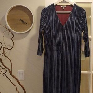 NEW Nordstrom Size Small Velvet Blue Dress